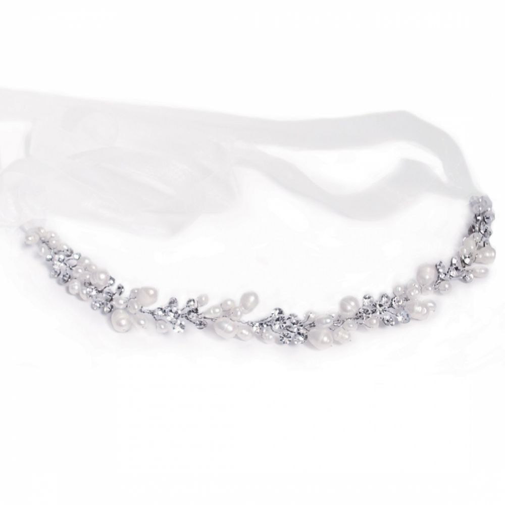 Ivory and Co Sylvie Pearl and Crystal Wedding Headpiece