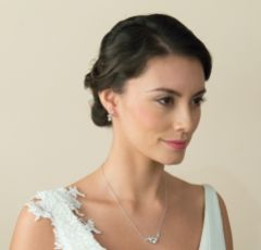 Ivory and Co Aphrodite Silver Bridal Jewellery Set