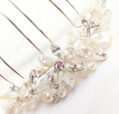 Ivory and Co Freshwater Pearl Bridal Hair Comb