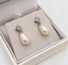 Ivory and Co Imperial Pearl Wedding Earrings