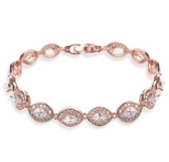 Ivory and Co Promise Cubic Zirconia Wedding Bracelet (Rose Gold)