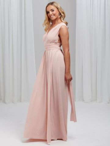Lily Rose Soft Peach Multiway Bridesmaid Dress