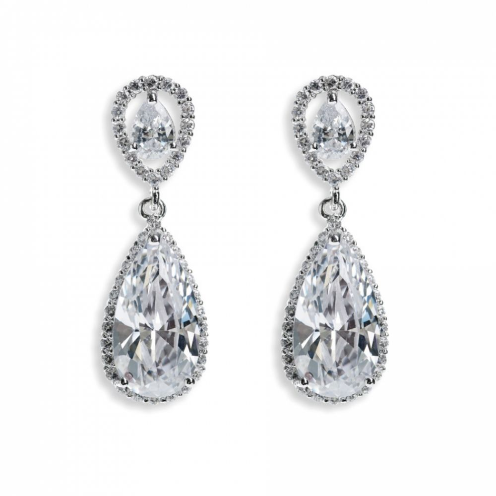 Ivory and Co Bacall Crystal Drop Earrings