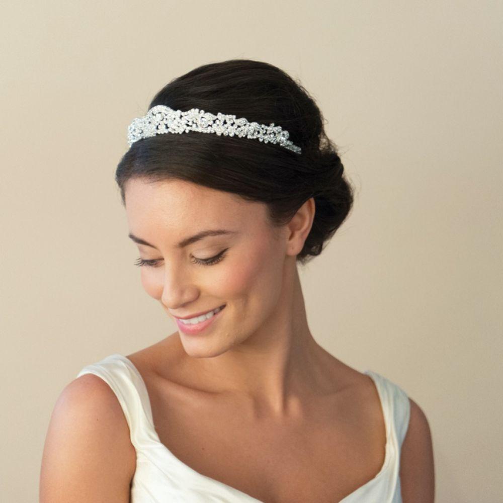 Crystal-Encrusted Bridal Headpiece Tiara Duchess