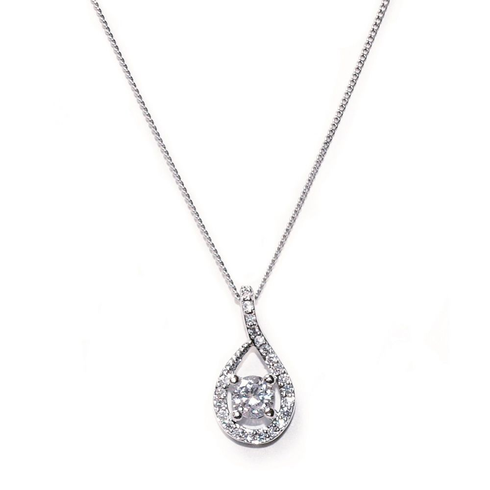 Ivory and Co Eternity Crystal Pendant Necklace