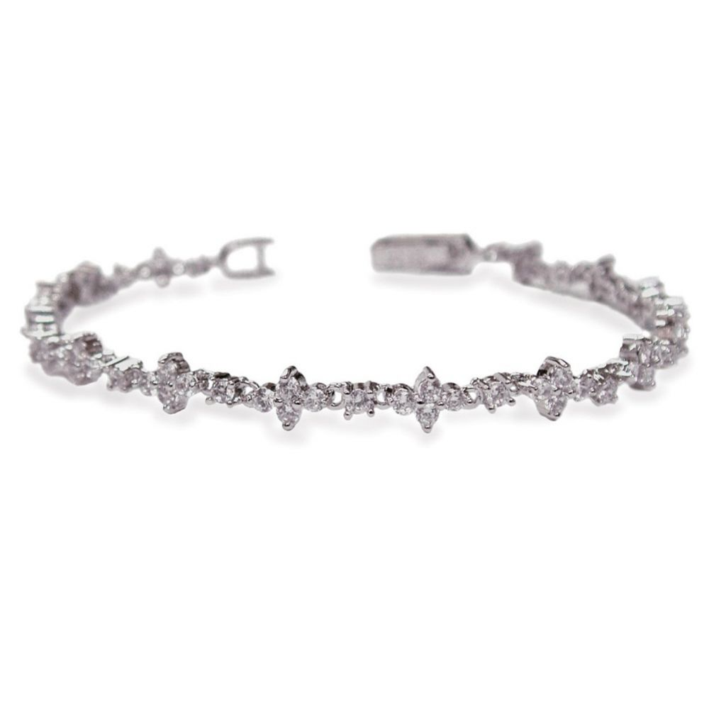 Ivory and Co Kensington Cubic Zirconia Wedding Bracelet
