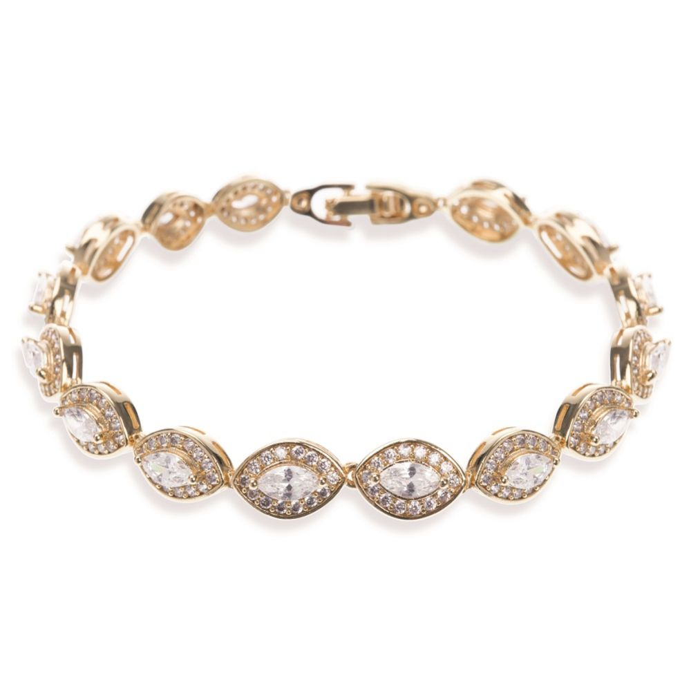 Ivory and Co Promise Cubic Zirconia Wedding Bracelet (Gold)