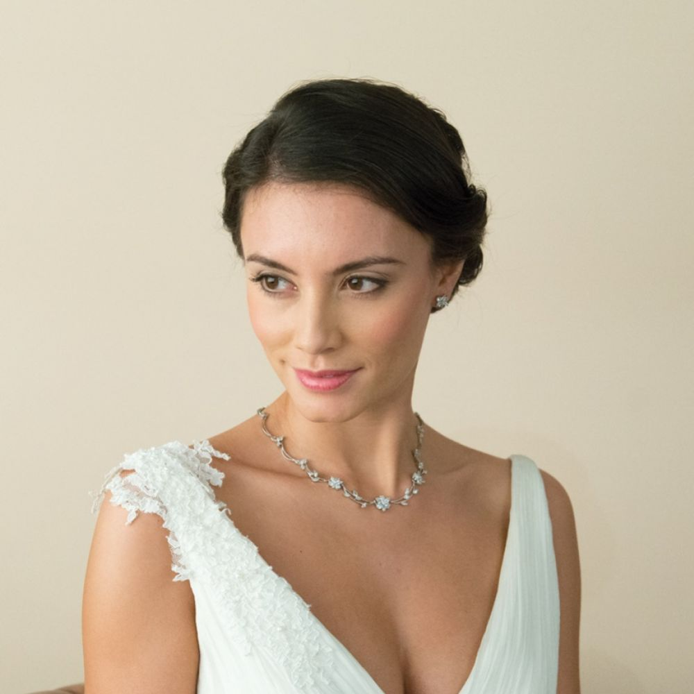 Ivory and Co Waterlily Crystal Wedding Necklace