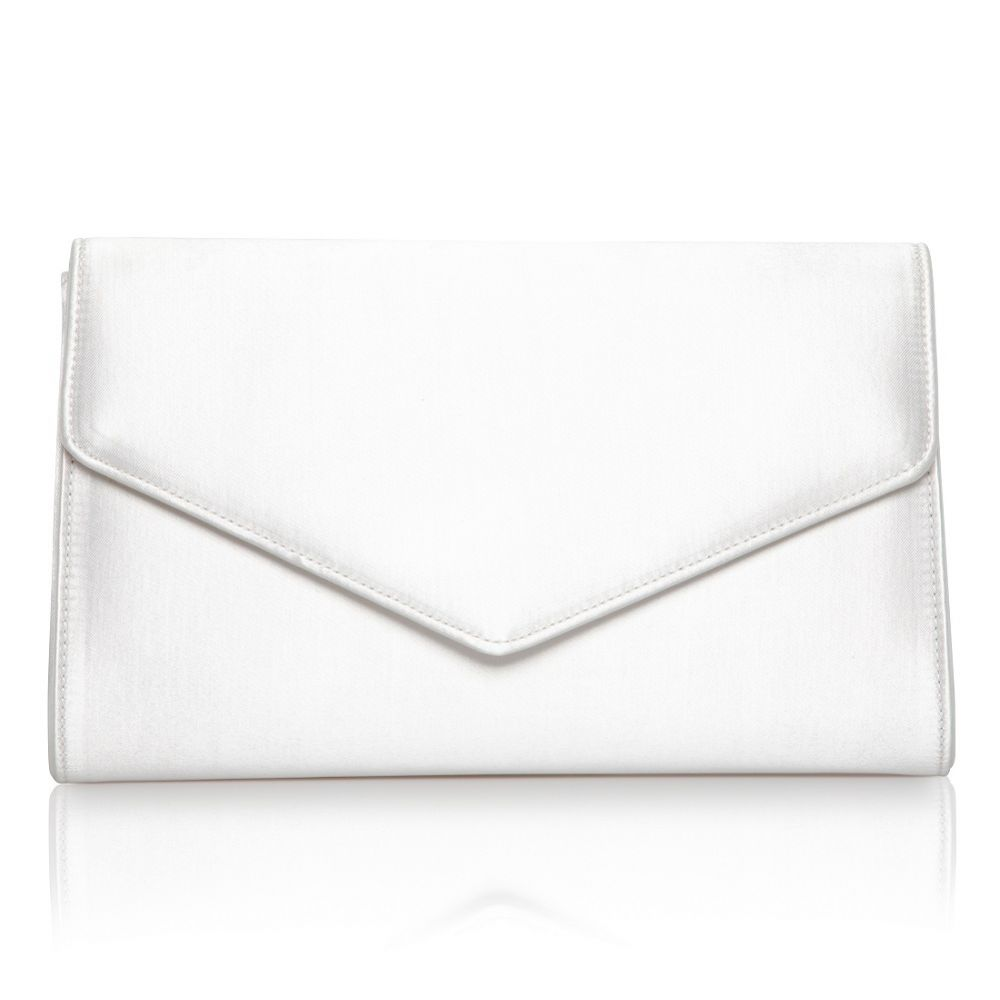 Perfect Bridal Heather Dyeable Ivory Satin Envelope Clutch Bag