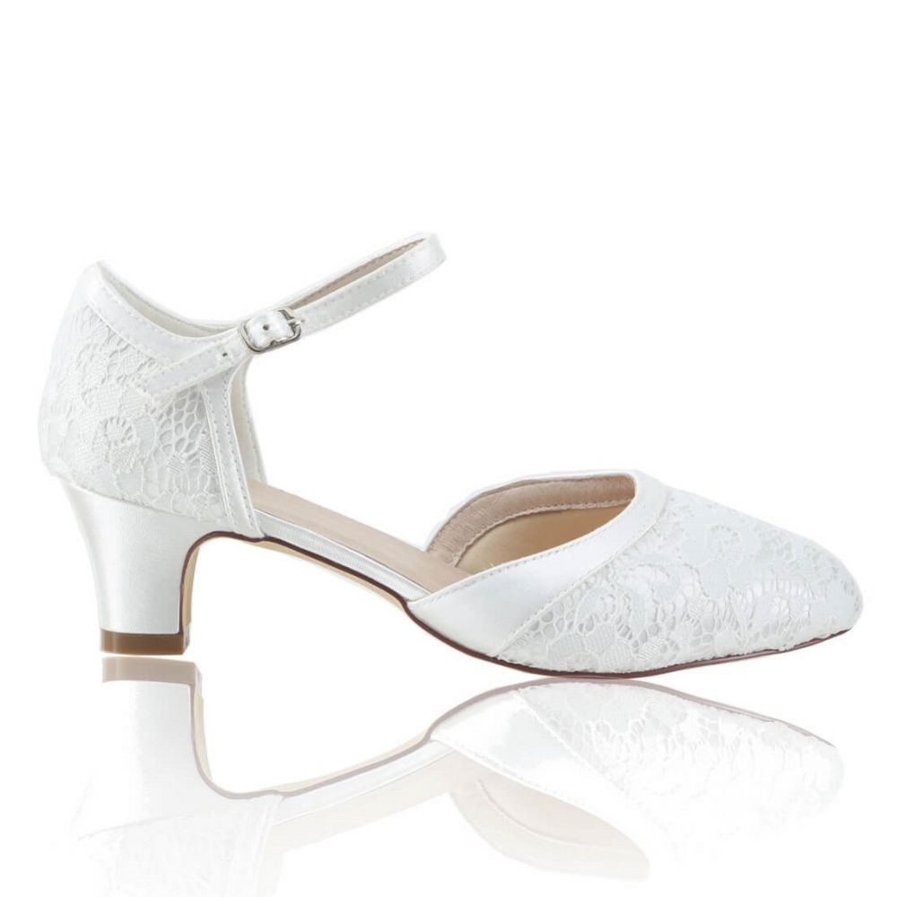 Perfect Bridal Ingrid Dyeable Ivory Lace Two Part Court Shoes
