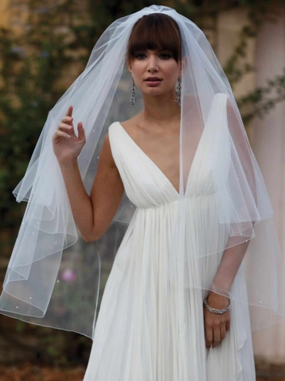 Joyce Jackson Sahara Two Tier Diamante Veil