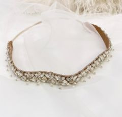 Eliza Jane Howell Puccini 1920's Vintage Crystal Headpiece