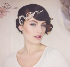 Elsie Silver Crystal Bridal Hair Vine