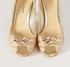 Laurel Lime Rose Gold Petal Shoe Clips