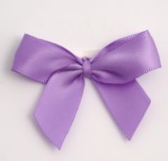 Lilac Satin Self Adhesive Bow - Pack of 12