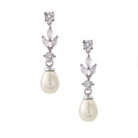 Abella Cubic Zirconia and Pearl Drop Earrings
