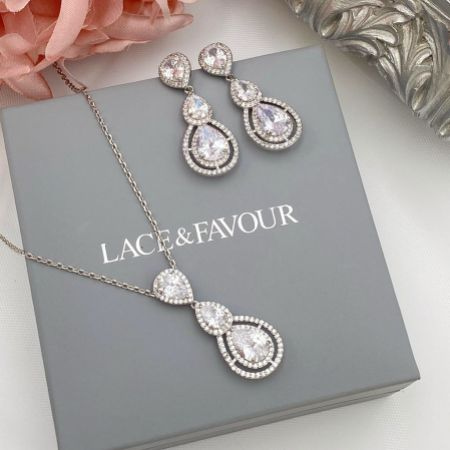 Alessandra Vintage Inspired Crystal Bridal Jewellery Set