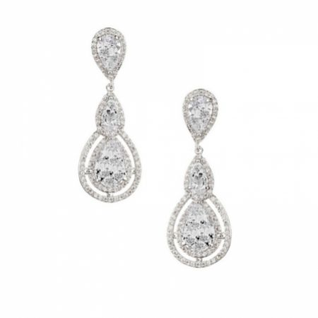 Alessandra Vintage Inspired Crystal Chandelier Earrings