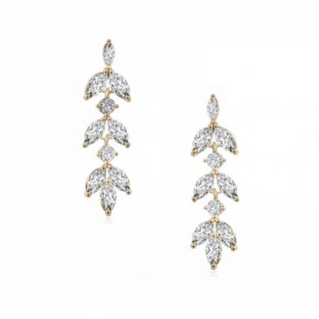 Aria Gold Cubic Zirconia Drop Earrings