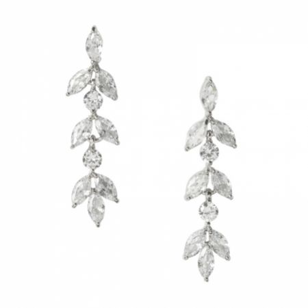 Aria Silver Cubic Zirconia Drop Earrings