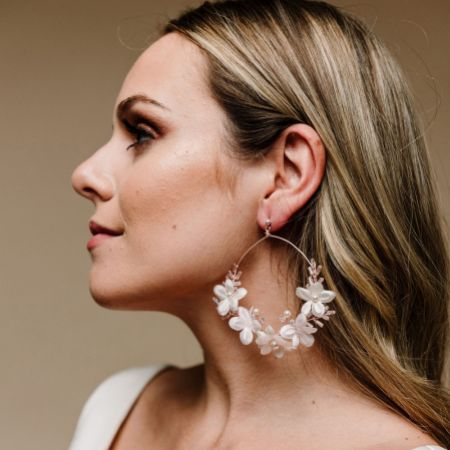 Arianna Daydream Floral Hoop Earrings ARE615