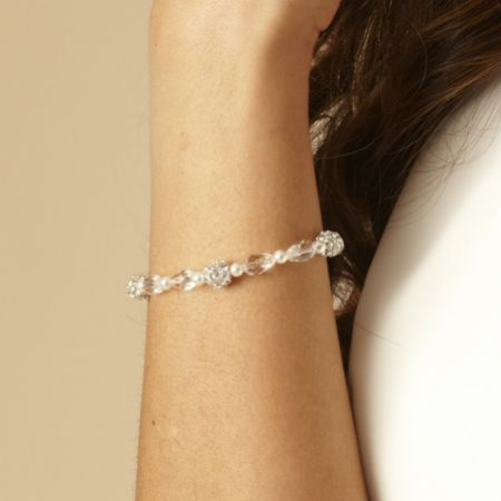 Arianna Diamante, Pearl and Crystal Wedding Bracelet ARW090
