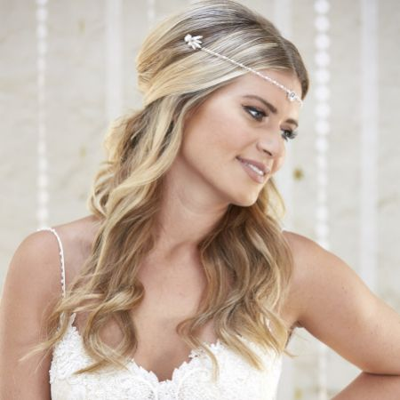 Arianna Dina Draped Bridal Headpiece AR579