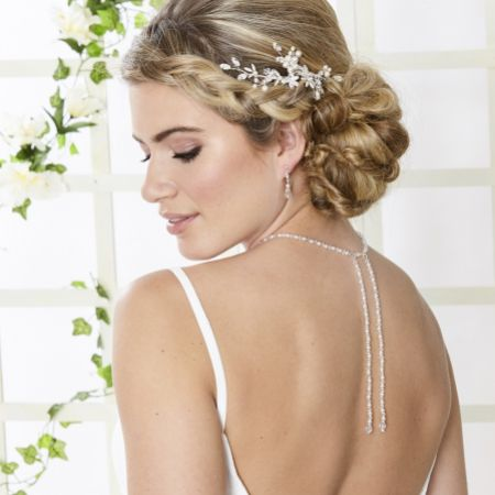 Arianna Entranced Vintage Inspired Backdrop Wedding Jewellery Set ARJ097