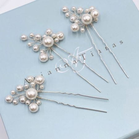 Arianna Everlasting Set of 3 Pearl Hair Pins ARP598