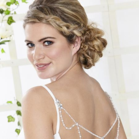 Arianna Helena Draped Pearl and Crystal Back Jewellery with Diamante Details ARN528