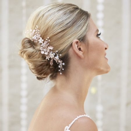Arianna Nyima Floral Spray Wedding Hair Comb AR573