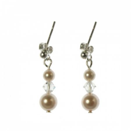 Arianna Pearl and Crystal Wedding Earrings ARE083