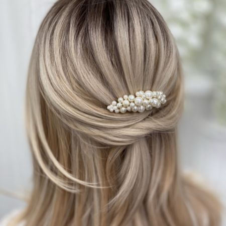 Bea Freshwater Pearl Small Gold Hair Comb