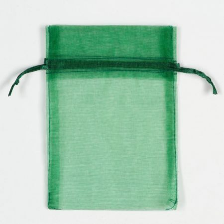 Bottle Green Organza Bag 4