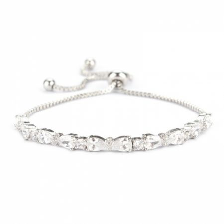 Charlee Chic Cubic Zirconia Wedding Bracelet (Silver)