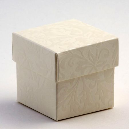 Diamante Square Favour Box - Pack of 10