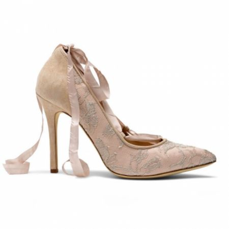 Diane Hassall Peachette Antique Rose Tie-Up Pointed Courts