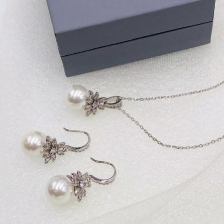 Eleanor Vintage Inspired Crystal and Pearl Bridal Jewellery Set