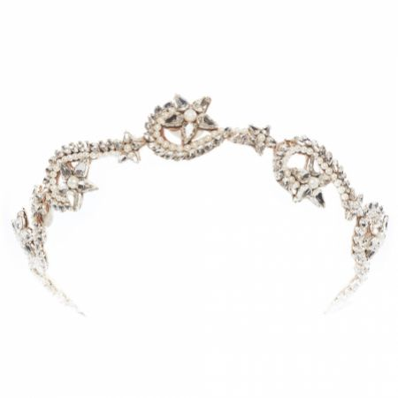 Eliza Jane Howell Sol Swirling Crystal Stars Bridal Headpiece