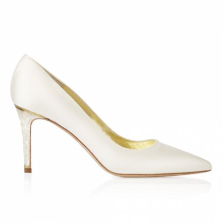 Freya Rose Chelsea Ivory Satin Pointed Toe Court Shoes