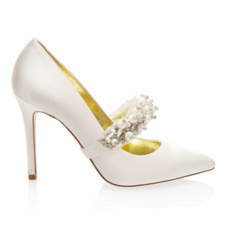 Freya Rose Queen Pearl Embellished Detachable Shoe Straps