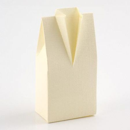 Gents Morning Suit Ivory Favour Box - Pack of 10