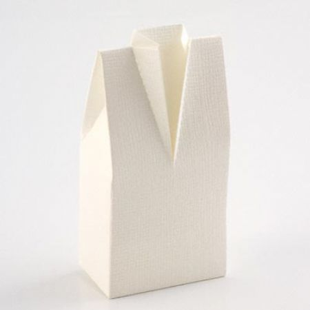 Gents Morning Suit White Favour Box - Pack of 10