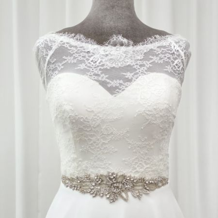 Hamilton Vintage Beaded and Crystal Embellished Bridal Belt
