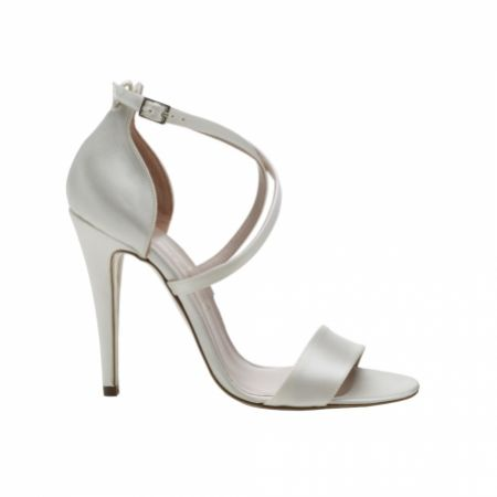 Harriet Wilde Arabella Ivory Satin Strappy Bridal Sandals