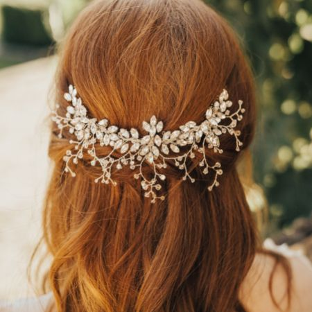 Hermione Harbutt Radiance Crystal Embellished Wedding Headpiece