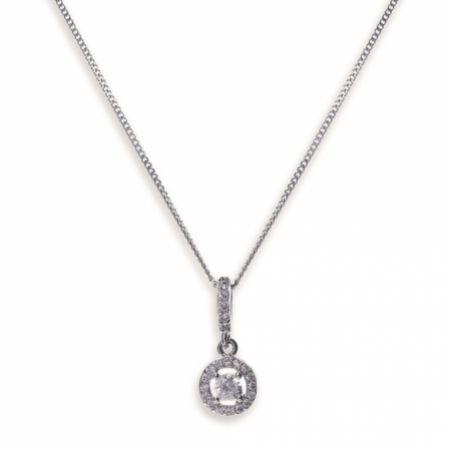 Ivory and Co Balmoral Crystal Pendant Necklace