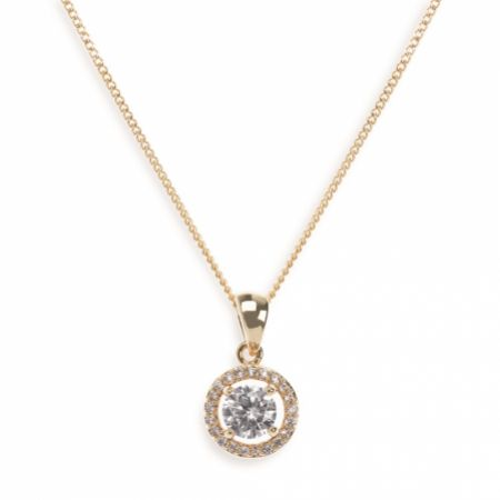 Ivory and Co Balmoral Gold Crystal Pendant Necklace