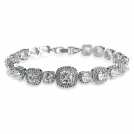 Ivory and Co Belize Square Crystal Wedding Bracelet