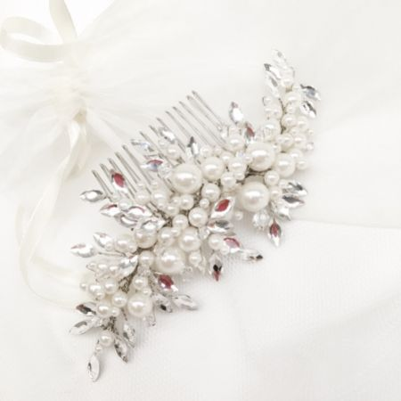 Ivory and Co Catalina Pearl and Crystal Bridal Hair Comb